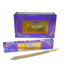 Natural Lavender Incense Sticks by Satya | Buy Online at the Asian Cookshop